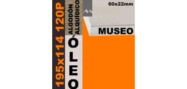 BASTIDOR MUSEO 60 X 22 ALGODÓN Nº2 (GRANO FINO) 195 X 114 120P (ÓLEO)