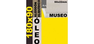 BASTIDOR MUSEO 60 X 22 ALGODÓN Nº2 (GRANO FINO) 180 X 90 (ÓLEO)