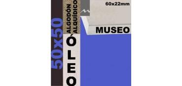 BASTIDOR MUSEO 60 X 22 ALGODÓN Nº2 (GRANO FINO) 50 X 50 (ÓLEO)