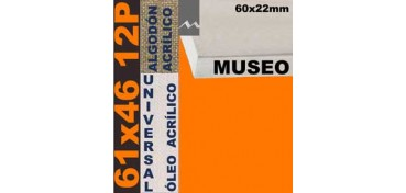 BASTIDOR MUSEO 60 X 22 ALGODÓN Nº2 (GRANO FINO) 61 X 46 12P (ÓLEO/ACRÍLICO)