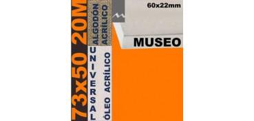 BASTIDOR MUSEO 60 X 22 ALGODÓN Nº2 (GRANO FINO) 73 X 50 20M (ÓLEO/ACRÍLICO)