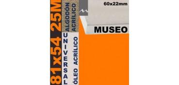 BASTIDOR MUSEO 60 X 22 ALGODÓN Nº2 (GRANO FINO) 81 X 54 25M (ÓLEO/ACRÍLICO)