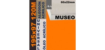 BASTIDOR MUSEO 60 X 22 ALGODÓN Nº2 (GRANO FINO) 195 X 97 120M (ÓLEO/ACRÍLICO)