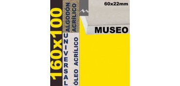 BASTIDOR MUSEO 60 X 22 ALGODÓN Nº2 (GRANO FINO) 160 X 100 (ÓLEO/ACRÍLICO)