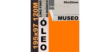 BASTIDOR MUSEO 60 X 22 LINO Nº1 (GRANO FINO) 195 X 97 120M (ÓLEO)