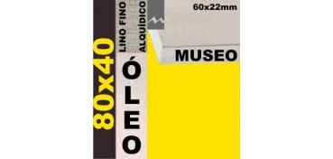 BASTIDOR MUSEO 60 X 22 LINO Nº1 (GRANO FINO) 80 X 40 (ÓLEO)