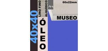 BASTIDOR MUSEO 60 X 22 LINO Nº1 (GRANO FINO) 40 X 40 (ÓLEO)