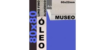 BASTIDOR MUSEO 60 X 22 LINO Nº1 (GRANO FINO) 80 X 80 (ÓLEO)
