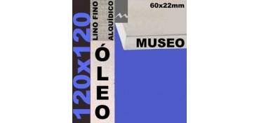 BASTIDOR MUSEO 60 X 22 LINO Nº1 (GRANO FINO) 120 X 120(ÓLEO)