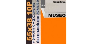BASTIDOR MUSEO 60 X 22 LINO Nº1 (GRANO FINO) 55 X 38 10P (ÓLEO/ACRÍLICO)