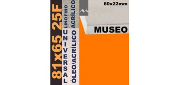 BASTIDOR MUSEO 60 X 22 LINO Nº1 (GRANO FINO) 81 X 65 25F (ÓLEO/ACRÍLICO)