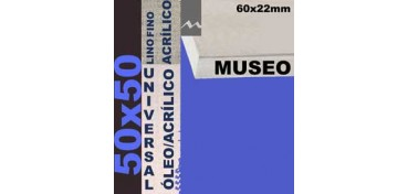 BASTIDOR MUSEO 60 X 22 LINO Nº1 (GRANO FINO) 50 X 50 (ÓLEO/ACRÍLICO)