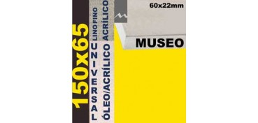 BASTIDOR MUSEO 60 X 22 LINO Nº1 (GRANO FINO) 150 X 65 (ÓLEO/ACRÍLICO)
