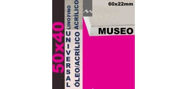 BASTIDOR MUSEO 60 X 22 LINO Nº1 (GRANO FINO) 50 X 40 (ÓLEO/ACRÍLICO)