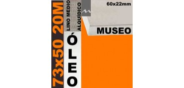 BASTIDOR MUSEO 60 X 22 LINO Nº3 (GRANO MEDIO) 73 X 50 20M (ÓLEO)