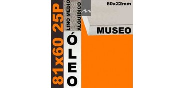 BASTIDOR MUSEO 60 X 22 LINO Nº3 (GRANO MEDIO) 81 X 60 25P (ÓLEO)