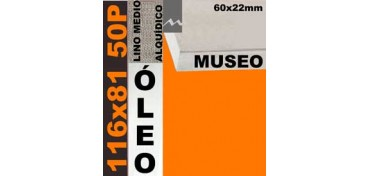 BASTIDOR MUSEO 60 X 22 LINO Nº3 (GRANO MEDIO) 116 X 81 50P (ÓLEO)