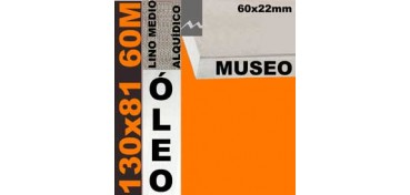 BASTIDOR MUSEO 60 X 22 LINO Nº3 (GRANO MEDIO) 130 X 81 60M (ÓLEO)