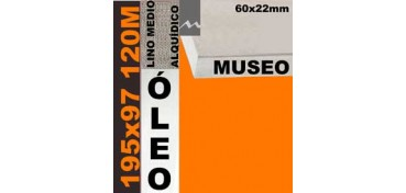 BASTIDOR MUSEO 60 X 22 LINO Nº3 (GRANO MEDIO) 195 X 97 120M (ÓLEO)
