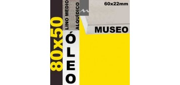 BASTIDOR MUSEO 60 X 22 LINO Nº3 (GRANO MEDIO) 80 X 50 (ÓLEO)