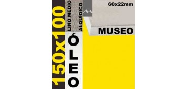 BASTIDOR MUSEO 60 X 22 LINO Nº3 (GRANO MEDIO) 150 X 100 (ÓLEO)