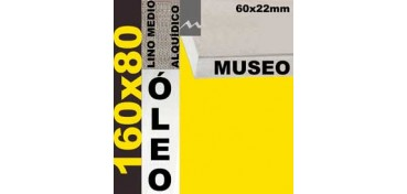 BASTIDOR MUSEO 60 X 22 LINO Nº3 (GRANO MEDIO) 160 X 80 (ÓLEO)