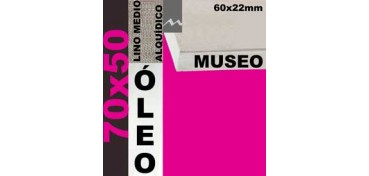 BASTIDOR MUSEO 60 X 22 LINO Nº3 (GRANO MEDIO) 70 X 50 (ÓLEO)