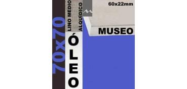 BASTIDOR MUSEO 60 X 22 LINO Nº3 (GRANO MEDIO) 70 X 70 (ÓLEO)