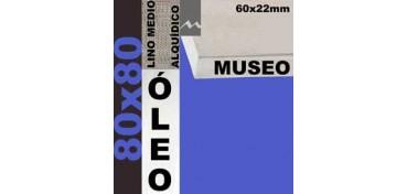 BASTIDOR MUSEO 60 X 22 LINO Nº3 (GRANO MEDIO) 80 X 80 (ÓLEO)