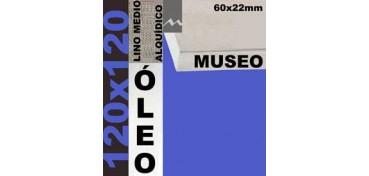 BASTIDOR MUSEO 60 X 22 LINO Nº3 (GRANO MEDIO) 120 X 120 (ÓLEO)