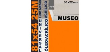 BASTIDOR MUSEO 60 X 22 LINO Nº3 (GRANO MEDIO) 81 X 54 25M (ÓLEO/ACRÍLICO)