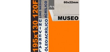 BASTIDOR MUSEO 60 X 22 LINO Nº3 (GRANO MEDIO) 195 X 130 120F (ÓLEO/ACRÍLICO)