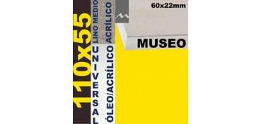 BASTIDOR MUSEO 60 X 22 LINO Nº3 (GRANO MEDIO) 110 X 55 (ÓLEO/ACRÍLICO)