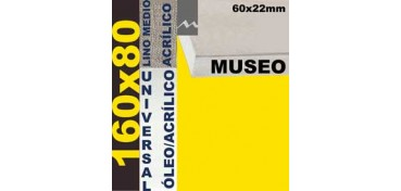 BASTIDOR MUSEO 60 X 22 LINO Nº3 (GRANO MEDIO) 160 X 80 (ÓLEO/ACRÍLICO)