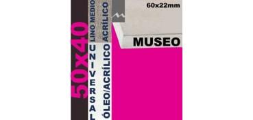 BASTIDOR MUSEO 60 X 22 LINO Nº3 (GRANO MEDIO) 50 X 40 (ÓLEO/ACRÍLICO)