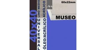 BASTIDOR MUSEO 60 X 22 LINO Nº3 (GRANO MEDIO) 40 X 40 (ÓLEO/ACRÍLICO)