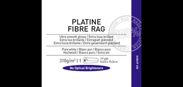 ROLLO CANSON INFINITY PLATINE FIBRE RAG 310G 100% ALGODÓN