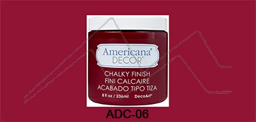 AMERICANA DECOR CHALKY FINISH ROJO ROMANCE ADC-06