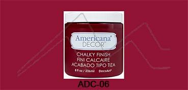 AMERICANA DECOR CHALKY FINISH ROJO ROMANCE ADC-06