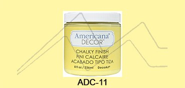 AMERICANA DECOR CHALKY FINISH AMARILLO DELICADO ADC-11