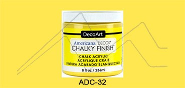 AMERICANA DECOR CHALKY FINISH AMARILLO REJUVENRCEDOR ADC-32