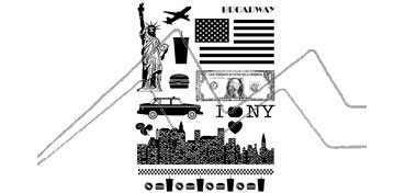 ARTEMIO SET DE SELLOS TRANSPARENTES NEW YORK