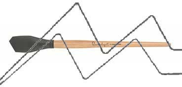 PRINCETON CATALYST PINCEL HOJA DE SILICONA FORMA 1 GRIS 30 MM (30X44MM)