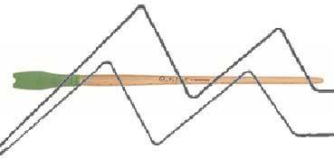 PRINCETON CATALYST PINCEL HOJA DE SILICONA FORMA 3 VERDE 15 MM (15X30MM)