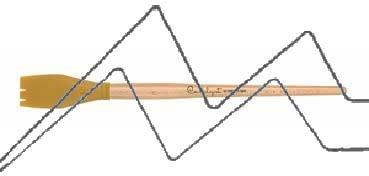 PRINCETON CATALYST PINCEL HOJA DE SILICONA FORMA 4 AMARILLO 30 MM (30X44MM)