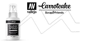 VALLEJO CARROTCAKE PINTURA EN SPRAY PARA SCRAPBOOKING PEACEFUL WHITE Nº 001