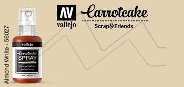 VALLEJO CARROTCAKE PINTURA EN SPRAY PARA SCRAPBOOKING ALMOND WHITE Nº 028