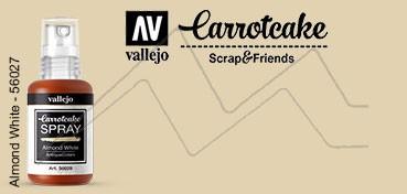 VALLEJO CARROTCAKE PINTURA EN SPRAY PARA SCRAPBOOKING ALMOND WHITE Nº 028