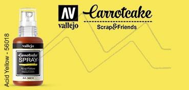 VALLEJO CARROTCAKE PINTURA EN SPRAY PARA SCRAPBOOKING ACID YELLOW Nº 018