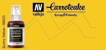 VALLEJO CARROTCAKE PINTURA EN SPRAY PARA SCRAPBOOKING SUNNY YELLOW Nº 003